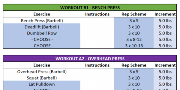 Exercise Spreadsheet Inside Gzclp Spreadsheet Instructions  Say No To Broscience