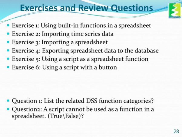 Exercise Spreadsheet Within Spreadsheet Manager Training Module  Ppt Download