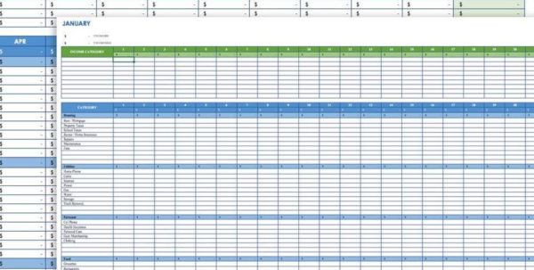 Expenses Spreadsheet Template Intended For Bills Spreadsheet Template Budget Planner Worksheet Monthly Free