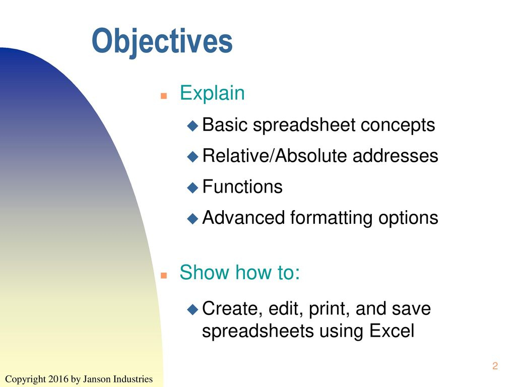 Explain Spreadsheet For Intro To Info Tech Excel Assg1 Assg Total 6  Ppt Download