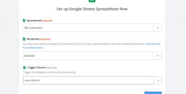 Extract Data From Email To Spreadsheet Inside Guide: Using Google Sheets Through Zapier  Databox Help Desk
