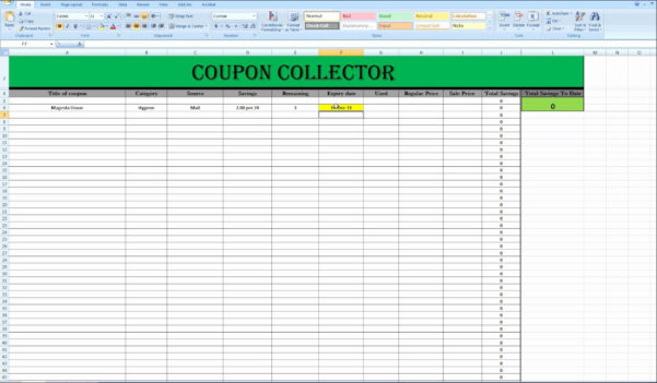 Extreme Couponing Spreadsheet With Regard To Extreme Couponing Spreadsheet As How To Create An Excel Spreadsheet