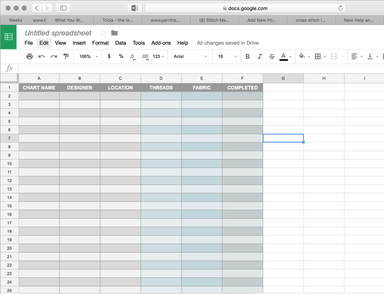 Fabric Inventory Spreadsheet With Top 5 Ways To Inventory Stash – Michele M. Bradley