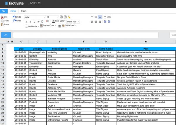 Facebook Ad Spreadsheet Regarding How To Track Linkedin Ads Kpis In A Spreadsheet For Digital