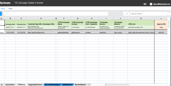 Facebook Ad Spreadsheet With How To Use The Utm Campaign Url Builder And Tracker Spreadsheet