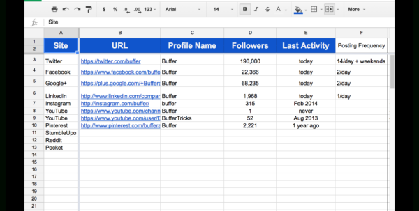 Facebook Ad Tracking Spreadsheet Regarding 10 Readytogo Marketing Spreadsheets To Boost Your Productivity Today