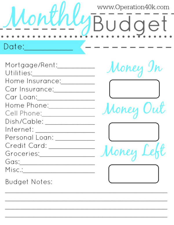 Family Budget Spreadsheet Free Pertaining To Simple Household Budget Template Printable Stunning Simple Family