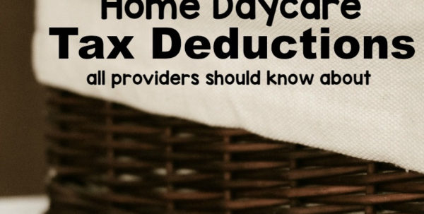 Family Day Care Tax Spreadsheet In Home Daycare Tax Deductions For Child Care Providers  Where