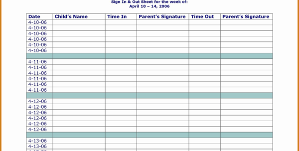 Family Day Care Tax Spreadsheet Pertaining To Practical Childcare Sign In Sheet – Heritageacresnutrition