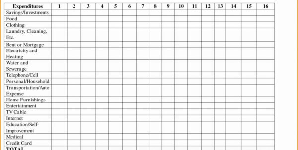 Family Expenses Spreadsheet Intended For Salon Expense Spreadsheet Best Of New Family Bills Household