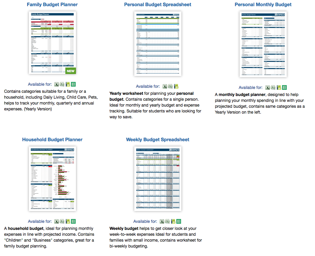 Family Monthly Expenses Spreadsheet Pertaining To 9 Useful Budget Worksheets That Are 100% Free