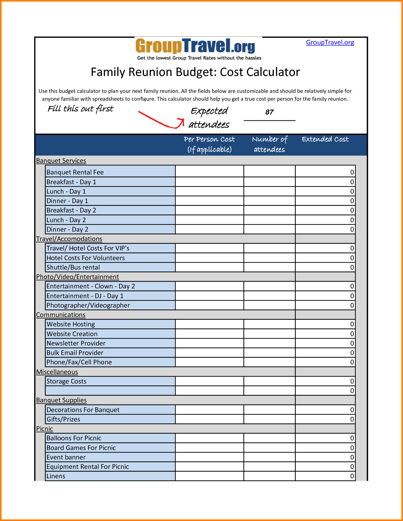 Family Reunion Expense Spreadsheet Intended For Family Budget Worksheet Png Letterhead Template Sample Photos Design