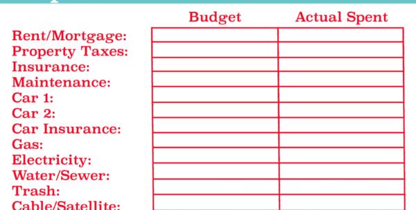 Family Reunion Expense Spreadsheet Pertaining To Best Familyt Spreadsheet Free Printable Household Dave Ramsey