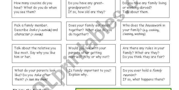 Family Reunion Payment Spreadsheet Inside Let´s Talk About Family  Esl Worksheetphilipr