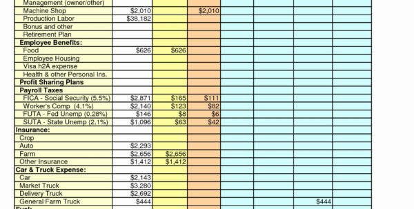 Farm Budget Spreadsheet Excel Regarding Farm Expenses Spreadsheet Elegant Accounting Templates Example Of