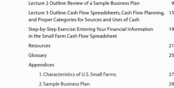 Farm Cash Flow Spreadsheet With Regard To Small Farm Business Plan Template Best Of Financial Plan In A