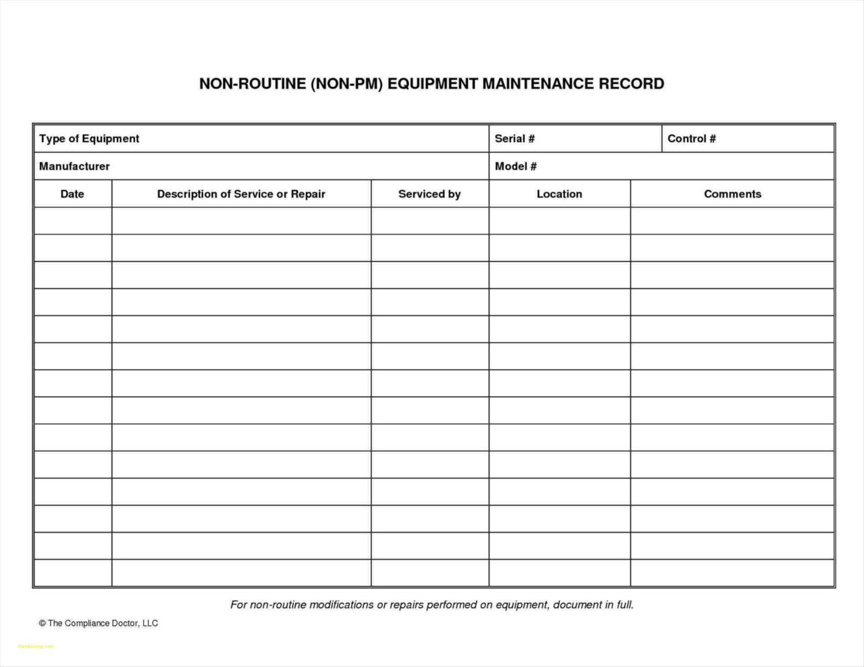 Farm Equipment Maintenance Log Spreadsheet Intended For Farm Equipment Maintenance Log Spreadsheet  Awal Mula