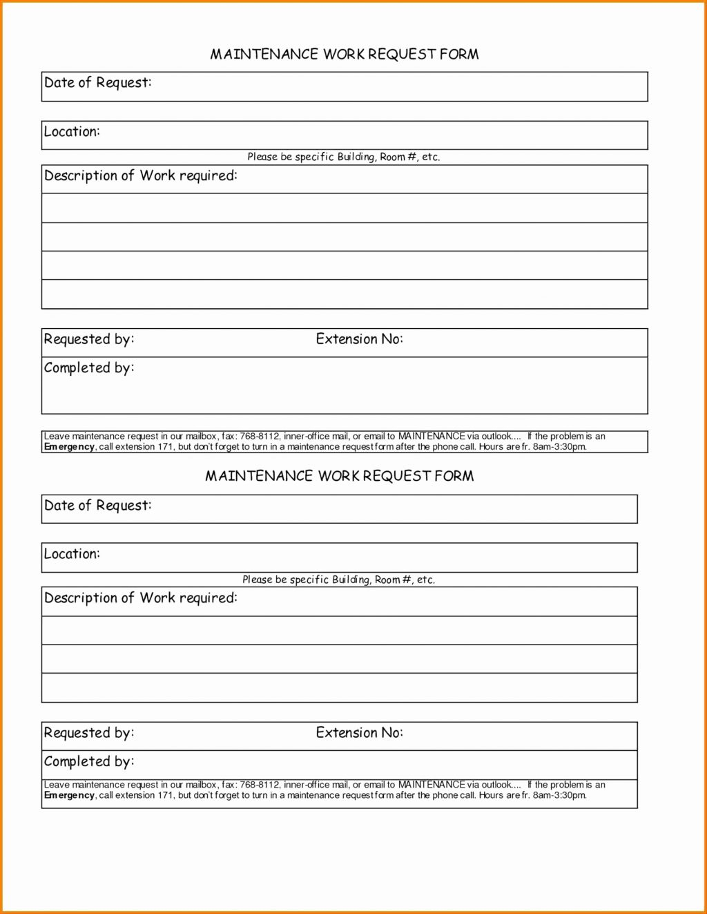 Farm Equipment Maintenance Log Spreadsheet Intended For Maintenance Report Form Free Templates In Pdf Word Excel Download