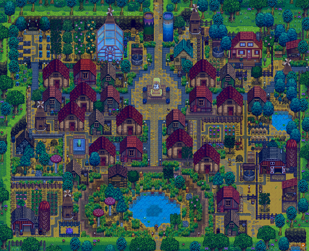 Farm Town Crops Spreadsheet With Turned My Farm Into A Bustling Town! : Stardewvalley
