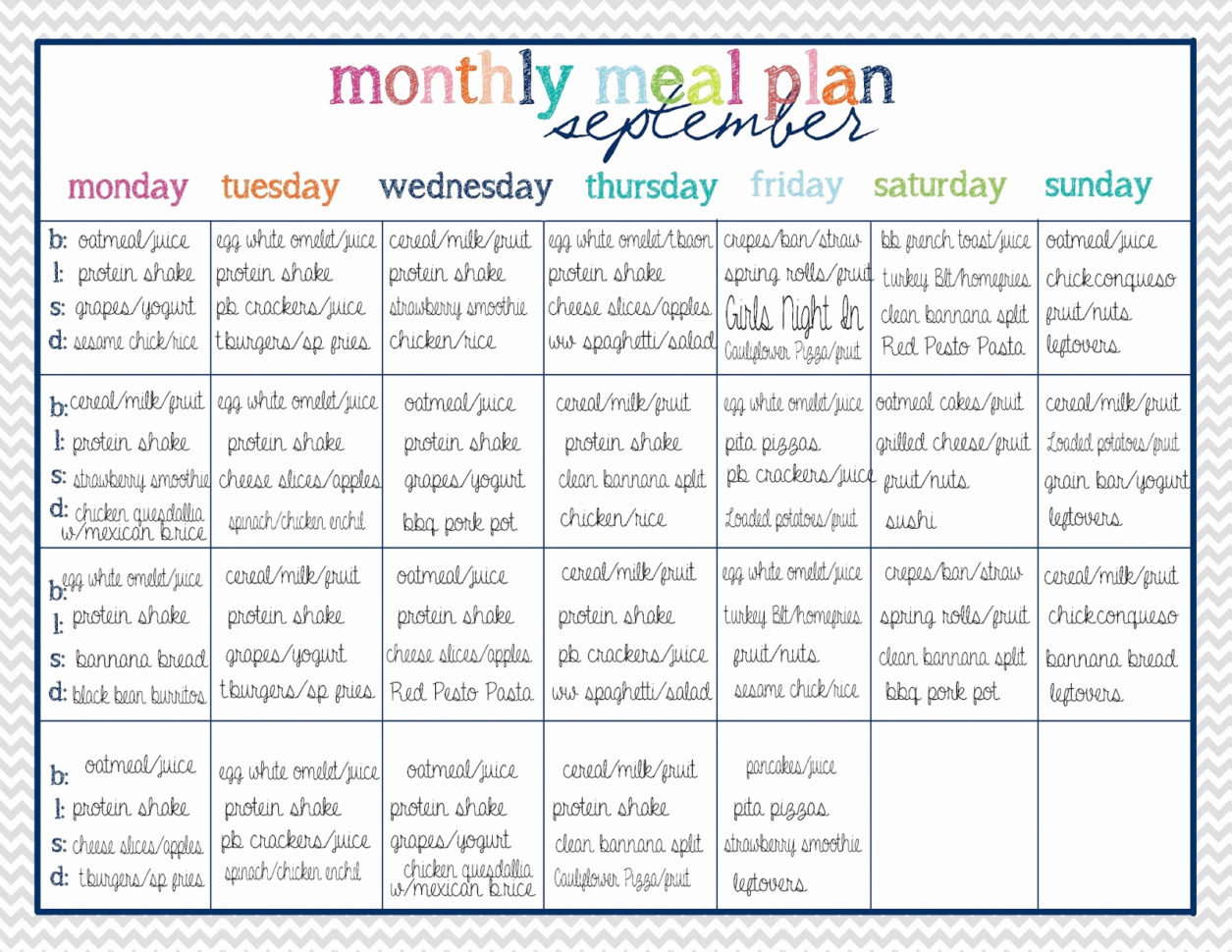 Fast Metabolism Diet Meal Plan Spreadsheet In Fast Metabolism Diet Meal Plan Spreadsheet Fresh Meal Plan