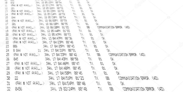 Fax Spreadsheet Throughout Printed Fax Spreadsheet Isolated On White Background, Facsimile