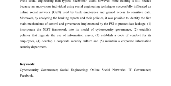 Ffiec Cybersecurity Assessment Tool Excel Spreadsheet Throughout Pdf Cybersecurity Governance: An Experiment With Brazilian Banks