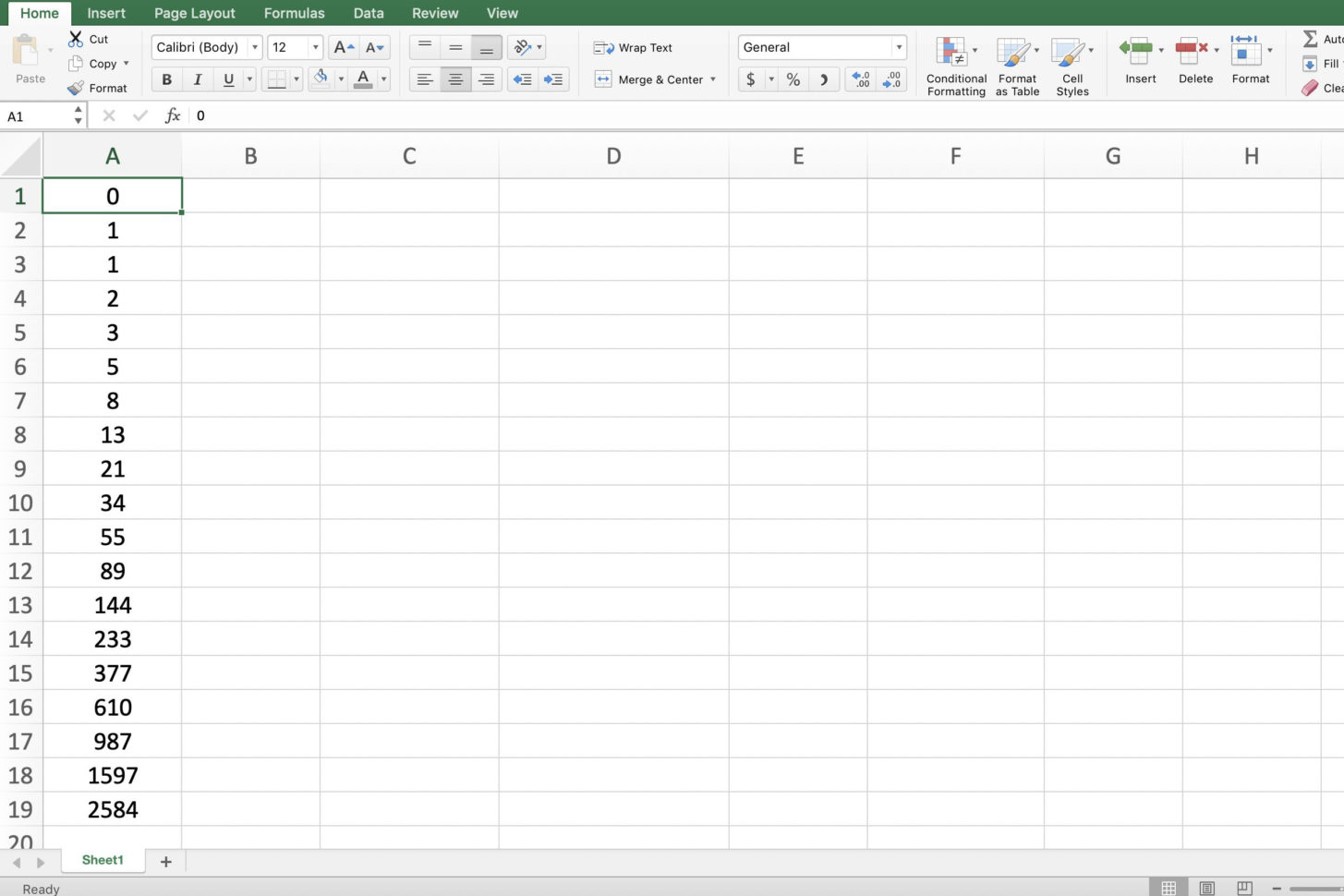 Fibonacci Calculator Spreadsheet Throughout How To Add Numbers In Excel Using A Formula