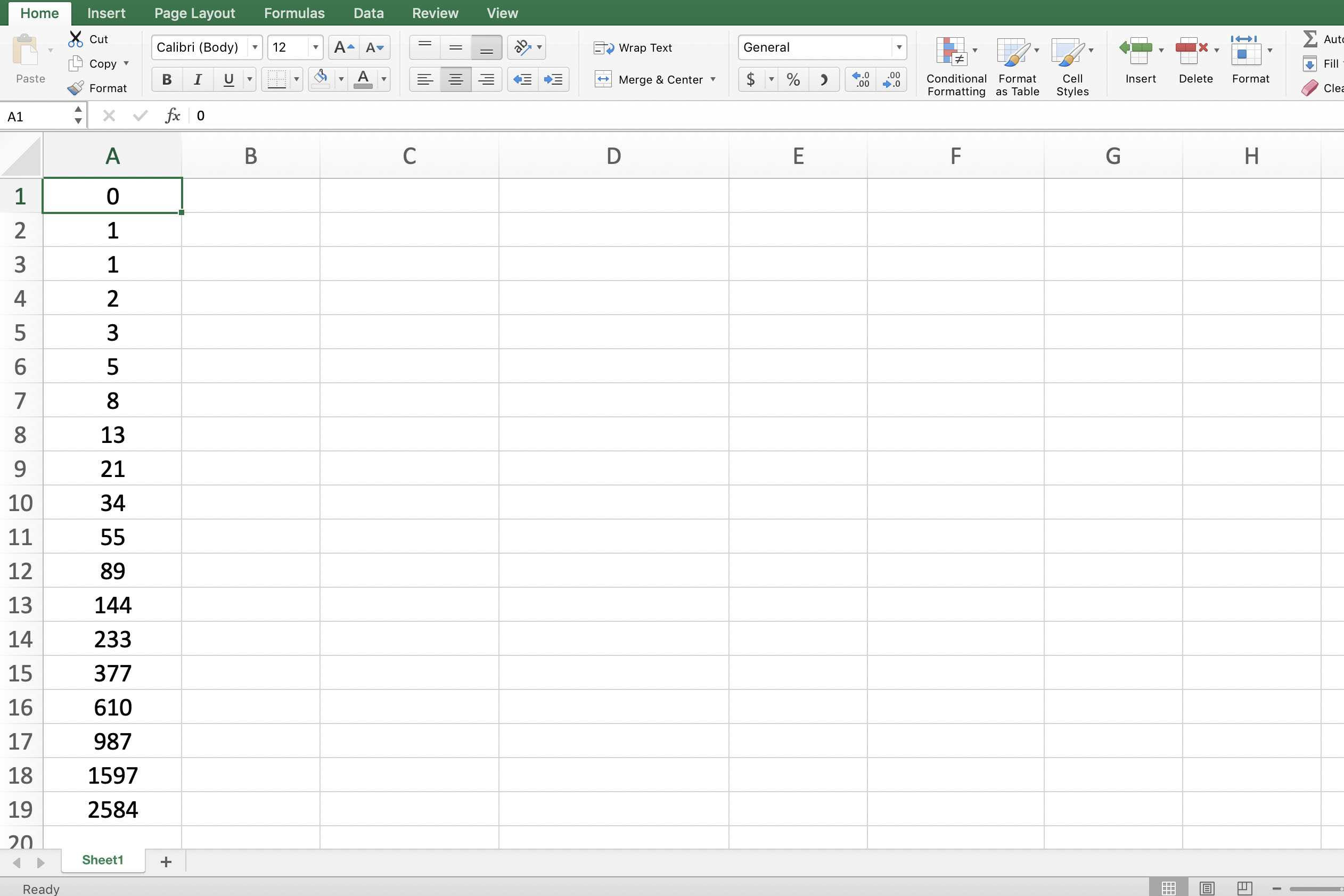 Fibonacci Excel Spreadsheet In How To Add Numbers In Excel Using A Formula