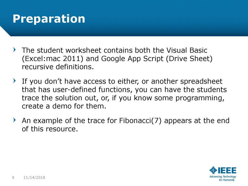 Fibonacci Excel Spreadsheet With Fibonacci Via Recursion And Iteration  Ppt Download