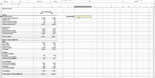 Financial Analysis Excel Spreadsheet Throughout Financial Ratio Analysis Excel Spreadsheet  Homebiz4U2Profit
