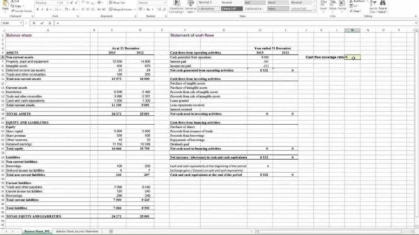 Financial Analysis Spreadsheet Inside Financial Ratio Analysis Spreadsheet  Homebiz4U2Profit