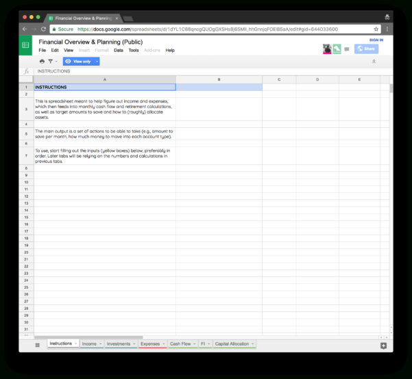 Financial Independence Spreadsheet Inside I Built My Own Financial Planning Spreadsheet