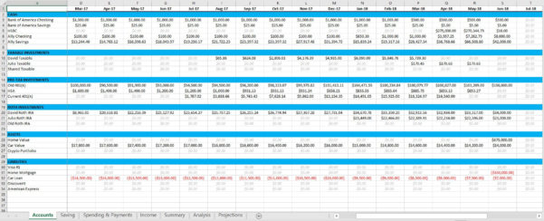Financial Independence Spreadsheet Inside Spreadsheets  Zero Day Finance