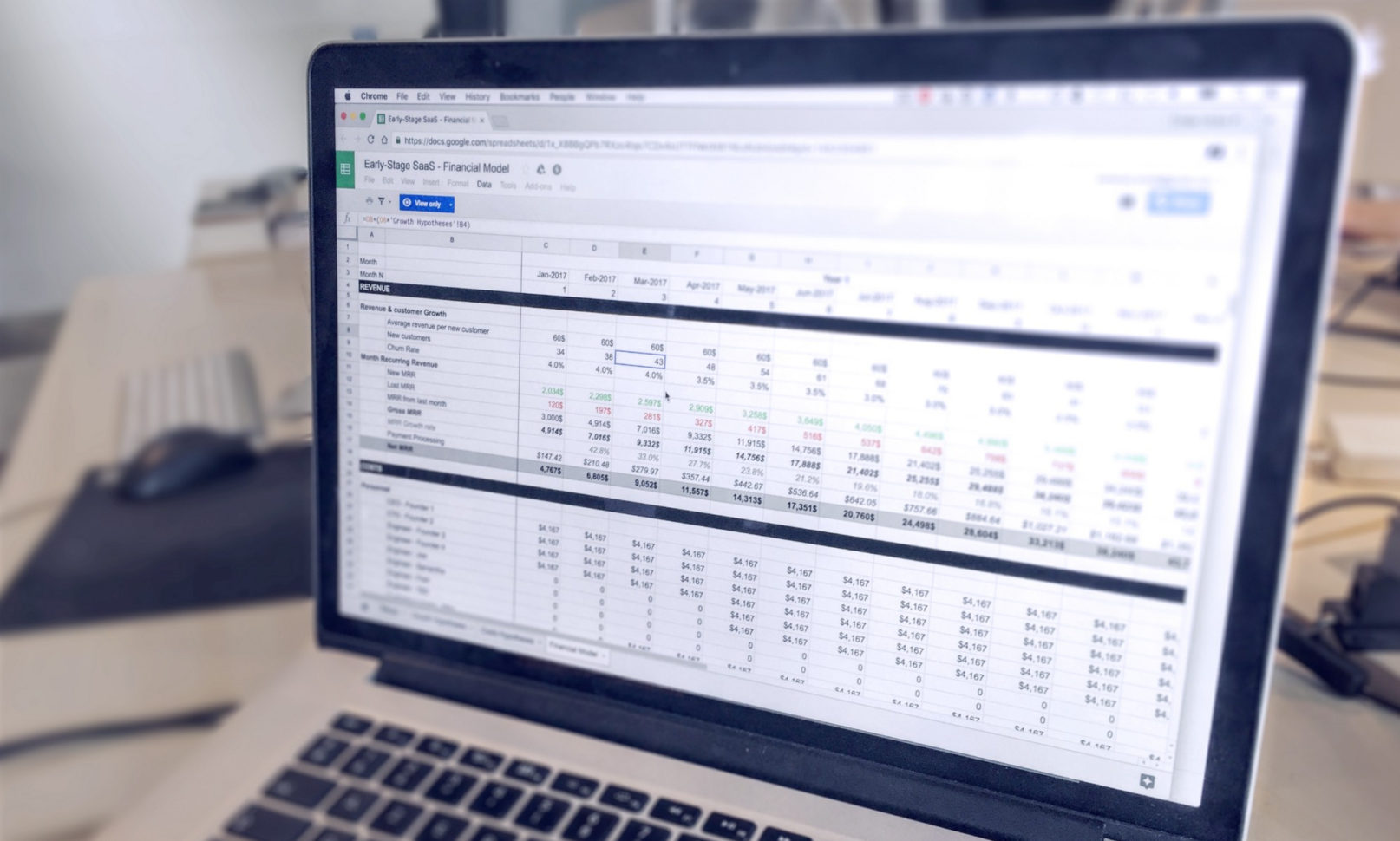 Financial Model Excel Spreadsheet For Saas Financial Model: Simple Template For Earlystage Startups
