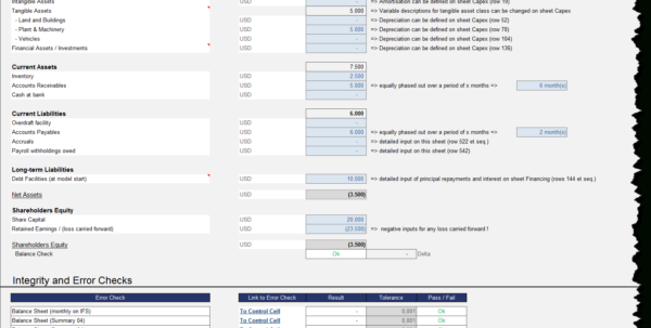 Financial Model Excel Spreadsheet With Excel Financial Model For Classic Economy