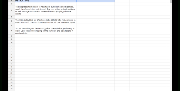 Financial Planning Retirement Spreadsheet With Regard To I Built My Own Financial Planning Spreadsheet