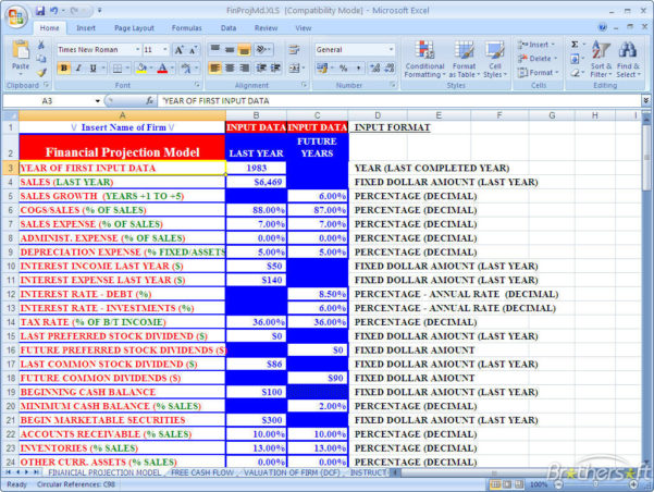 Financial Projection Spreadsheet Within Download Free Financial Projections, Financial Projections Download