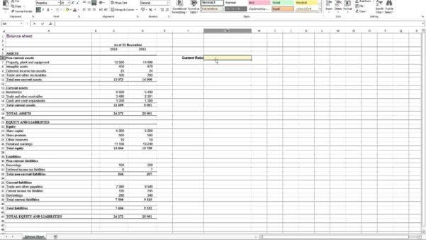 Financial Ratios Spreadsheet In Financial Ratio Analysis Excel Spreadsheet  Homebiz4U2Profit