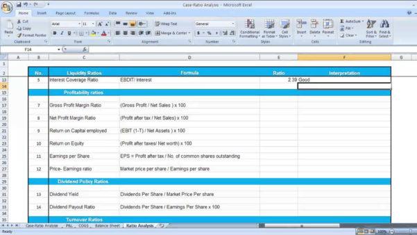 Financial Ratios Spreadsheet With Financial Ratio Analysis Excel Spreadsheet – Spreadsheet Collections