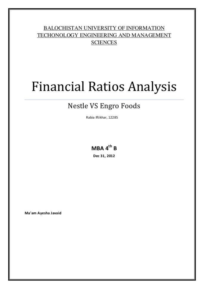 Financial Ratios Spreadsheet With Regard To Financial Analysis Report Samples Ratio Format Statement Example