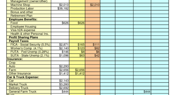 Financial Spreadsheet Example Within Farm Expenses Spreadsheet  Charlotte Clergy Coalition