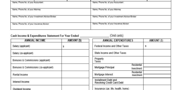 Financial Statement Analysis Spreadsheet Free For Personal Financial Statement Template Example Of Small Business