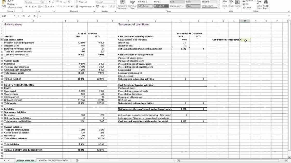 Financial Statement Analysis Spreadsheet Free Within Financial Ratio Analysis Template Free  Homebiz4U2Profit