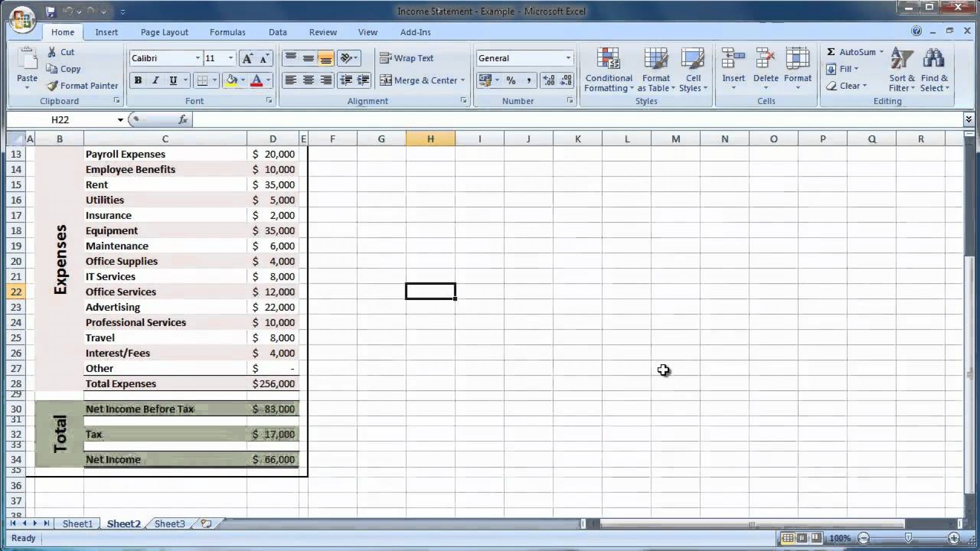 Financial Statement Spreadsheet Within 028 Template Ideas Excel Financial Statement Expenses And Income