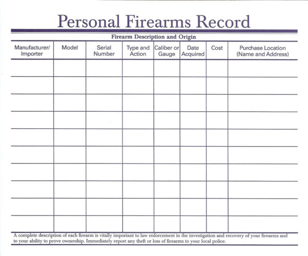Firearms Inventory Spreadsheet Within Firearms Inventory Spreadsheet  Charlotte Clergy Coalition