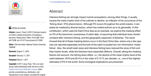 Fishing Log Spreadsheet In Pdf Fishing Down Canadian Food Webs