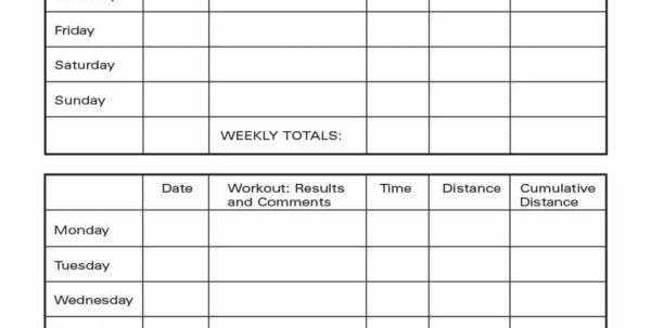 Fitness Plan Spreadsheet In 40  Effective Workout Log  Calendar Templates  Template Lab