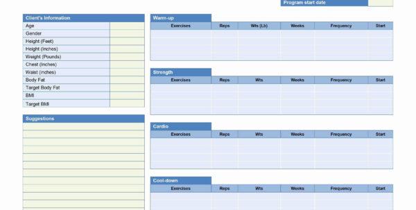 Fitness Plan Spreadsheet With Training Program Templates New Workout Routine Spreadsheet Fresh
