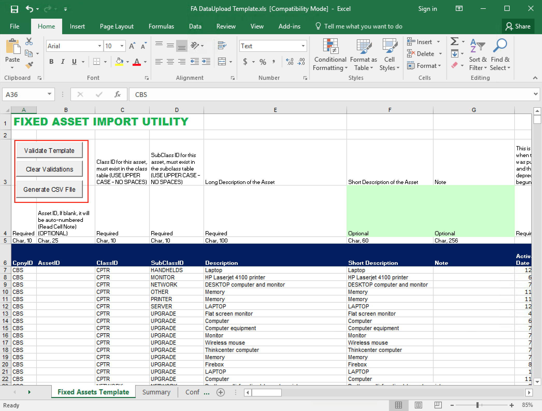 Fixed Asset Depreciation Excel Spreadsheet For Fixed Assets  M5 Team