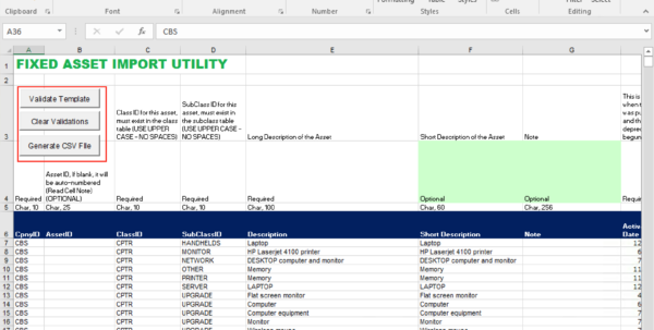 Fixed Asset Spreadsheet For Fixed Assets  M5 Team